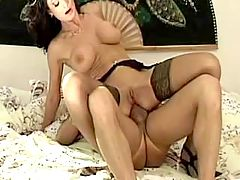 Brunette Milf Gets Her Curvey Ass Fucked
