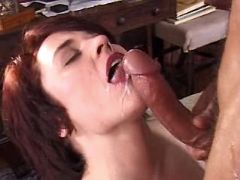 Milf fucks in all ways and gets cum