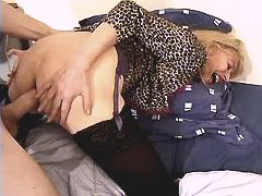 Mature sucks n gets big dick in ass