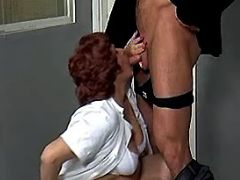 Old plump nurse throats fresh cock