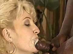 Black guy rich jizz on mature mouth