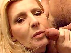 Busty Blondie Gets Smashed In Group Fuck