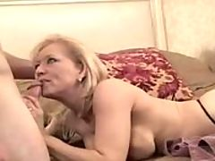 Sexy mature playing at computer