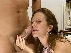 Blonde mature getting action