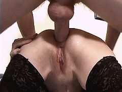 Aged mom gets titsfuck and has anal