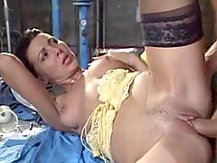 Mature dames fucking two guys