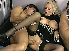 Stud Grinds Cock In Mature Hoe