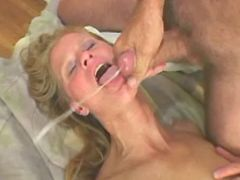 Horny granny gets cum after fuck