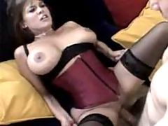 Busty Milf Gets Group Pounded And Facial