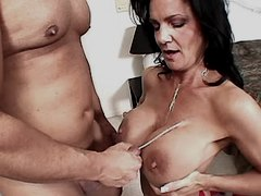 Mature has anal n gets cum on tits